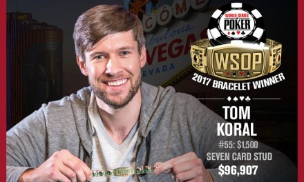 Tom Koral Wins 2017 World Series of Poker $1,500 Stud Event