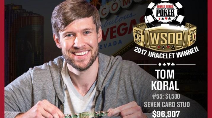 Tom Koral Wins 2017 World Series of Poker $1,500 Stud Event