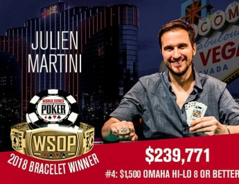 Julien Martini Wins 2018 WSOP $1,500 Omaha Eight-or-Better Event