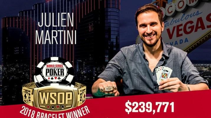 Julien Martini Wins 2018 WSOP $1,500 Omaha Eight-or-Better Event