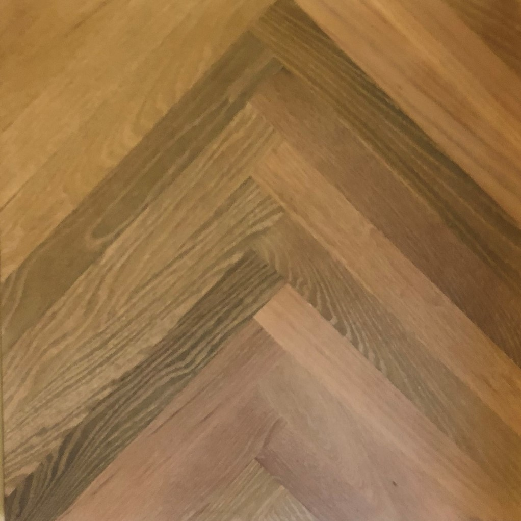 Red Oak Herringbone Plainsawn Lye Treatment