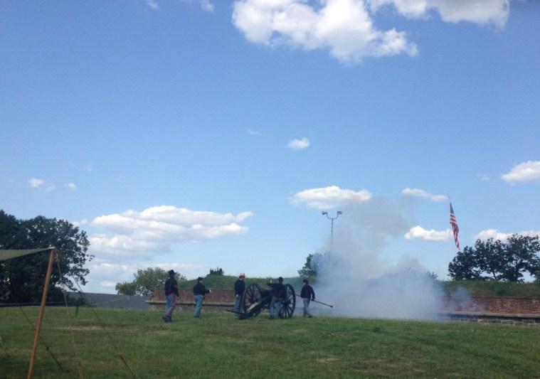 governor's island civil war canon