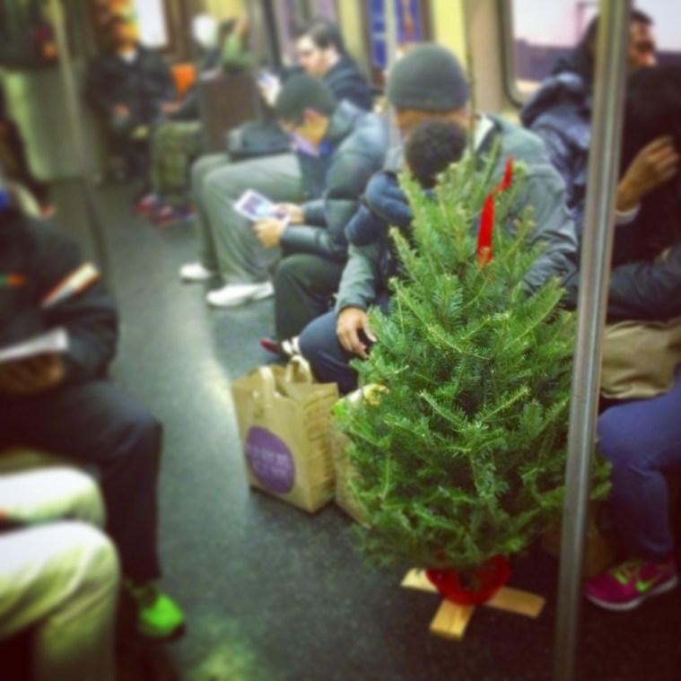 subway christmas tree