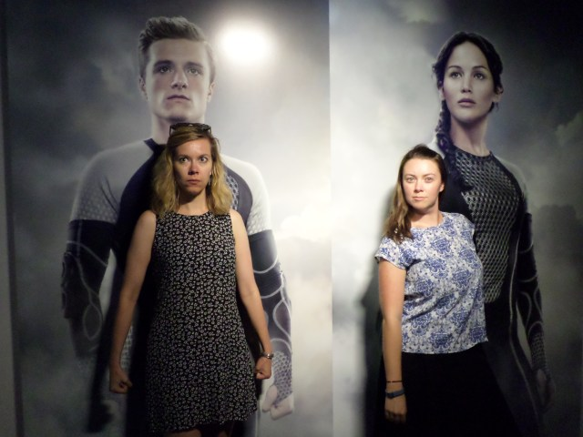peeta and katniss the hunger games the exhibition