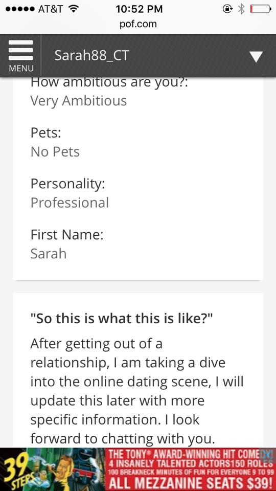 Someone Made a Fake Online Dating Profile with a Photo
