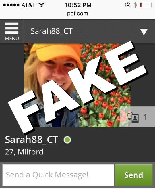 Someone made a fake hookup profile of me
