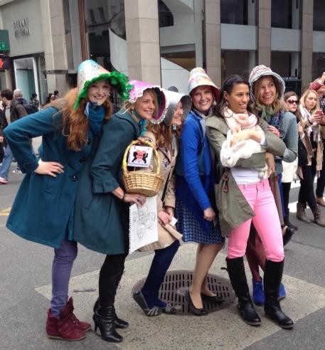 Jane Games Cast in Easter Bonnets