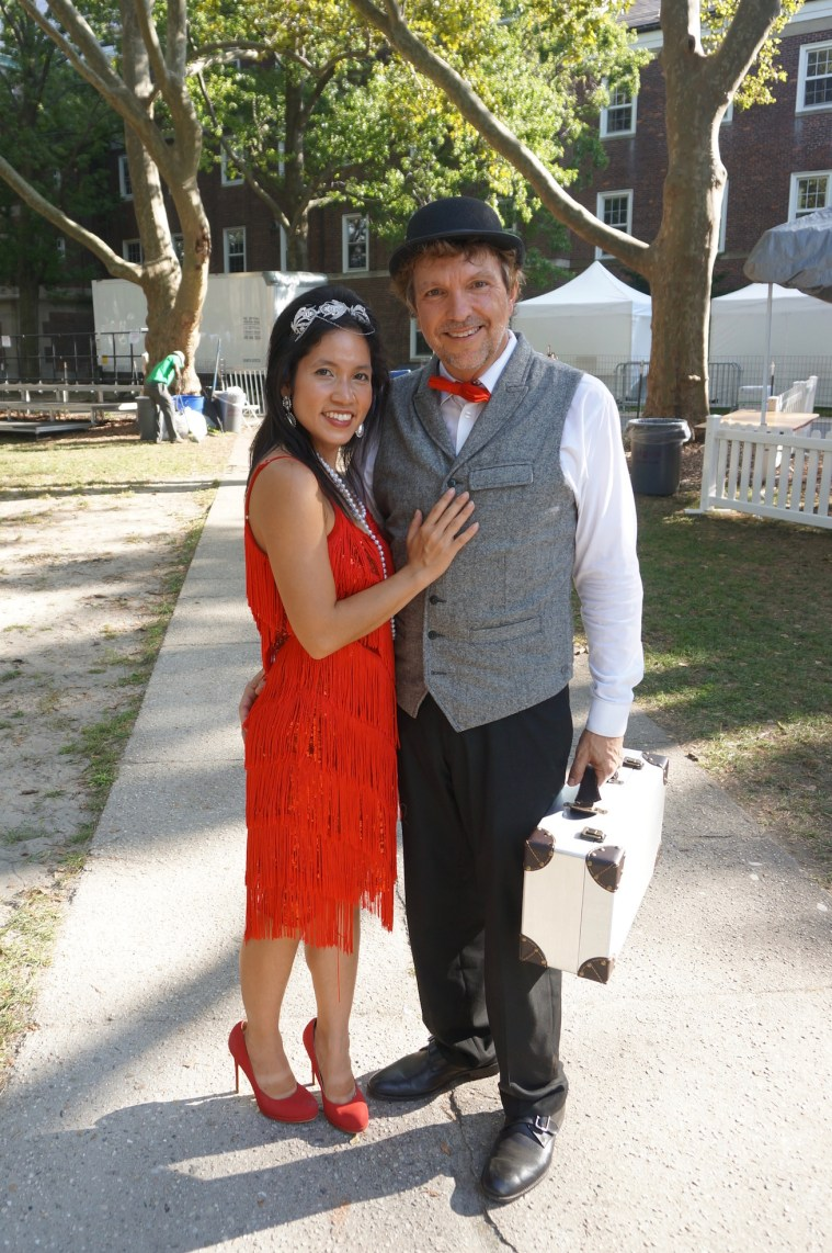 jazz age lawn party couple