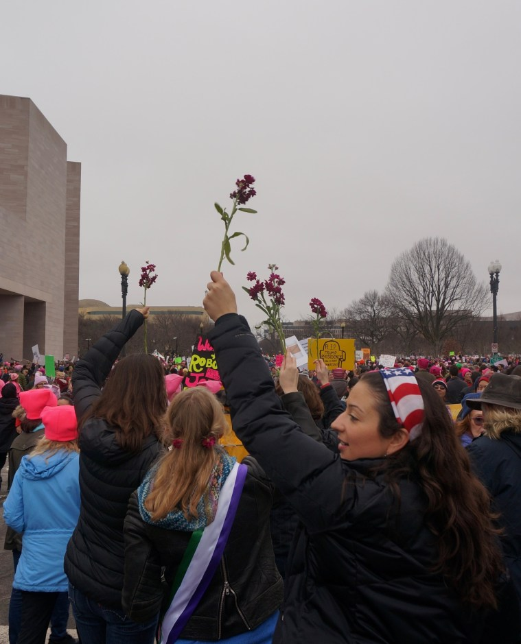 womens march washington dc flowers