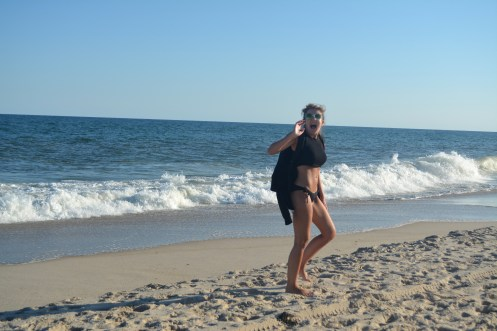 This definitely shows my excitement of being in the Hamptons!