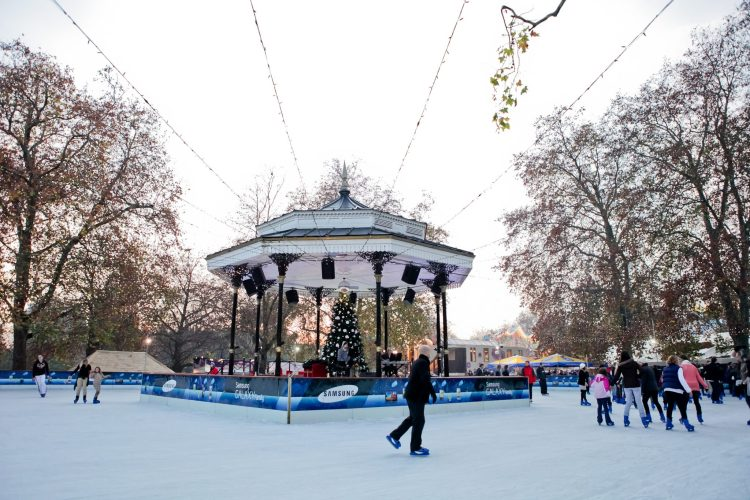ice skating rink winter wonderland