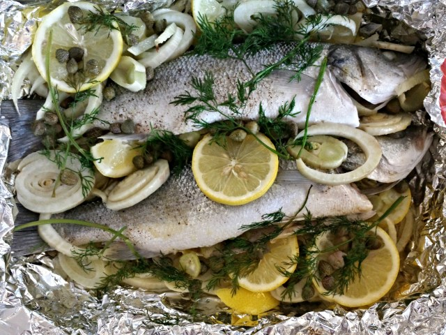 Sea Bass with Fennel and Capers - New Yorker Meets London