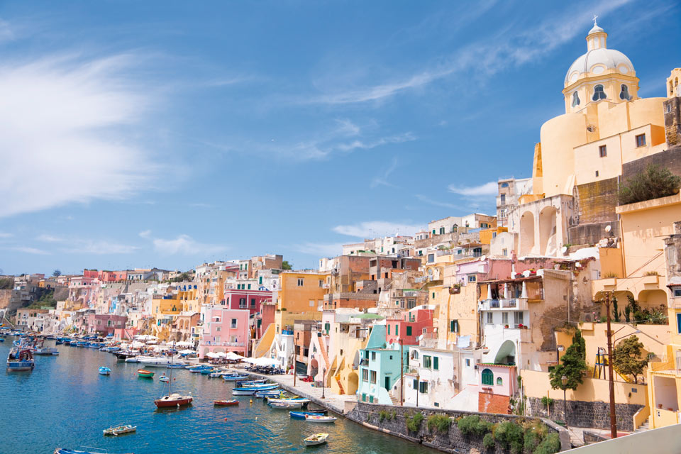 amalfi coast map procida