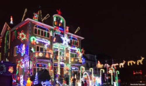 Dyker Heights Christmas Lights 2016 - Sam the Greek house