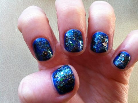March Manicure Madness, Day Four: Starry, Starry Night (3/5)