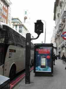 This is an image of a bus lane camera in NYC