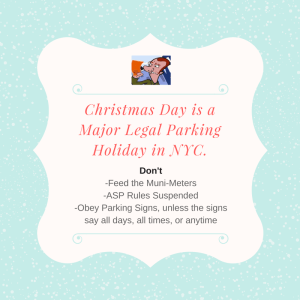 Major legal parking holiday in NYC