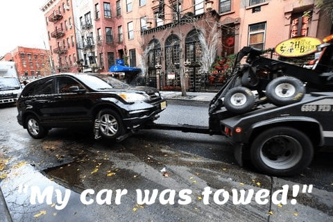 my vehicle was towed in NYC