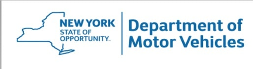 NY DMV logo is a link to the website