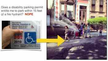 parking permit for people with disabilities