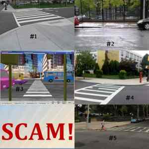 Images of illegal and legal pedestrian ramps