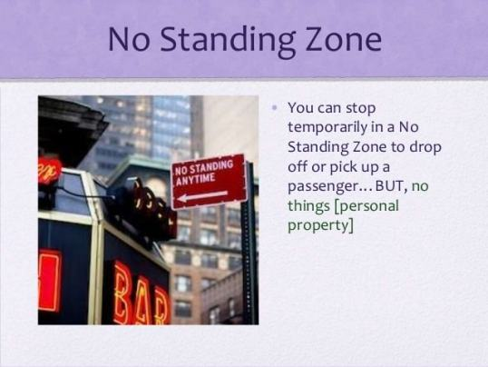 This represents learning how to beat a no standing ticket in NYC