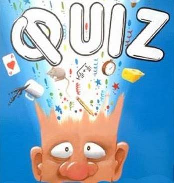 "This cartoon-like image of a head exploding open with the words ""QUIZ"" coming out"