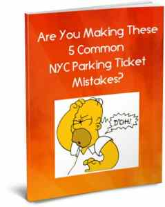 NYC parking ticket ecover