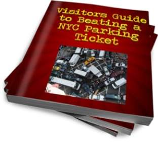 """This ecover is for an ebook, """"Visitors Guide to Beating a NYC parking ticket"""""""