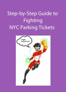 This image is the ecover of the step-by-step guide to fighting nyc parking tickets