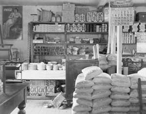 This image is the interior of an old time general store-represents our website sotre