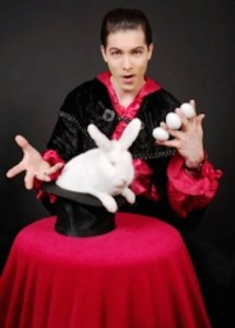 This image of a magician relates to this blog post about the magic of getting a nyc parking ticket dismissed