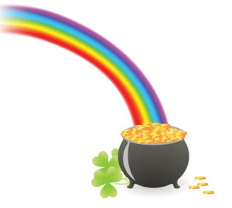 This image is a pot of gold at the end of a rainbow represting your good fortune to receive this free ebook