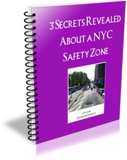"""This ecover is for an ebook entitle, """"3 Secrets Revealed about a NYC Safety Zone"""""""