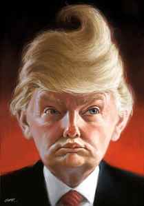 This is a caricature of Donald Trump, that I reference in my blog post
