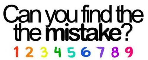 This image is a quiz about finding a mistake