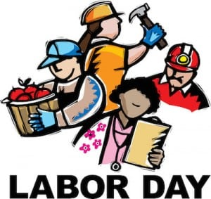 This image represents labor day