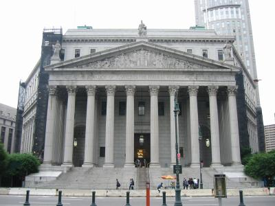 This image is the NY Supreme Court building located in NYC