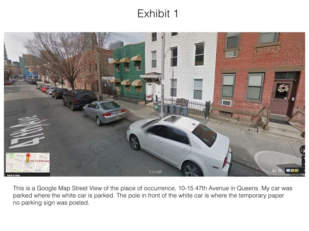This is evidence to beat a parking ticket for violation a temporary parking restriction