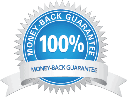 100% money-back guaranty seal