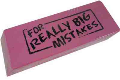 This eraser is for fixing NYC parking ticket mistakes