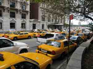 cabbies double parked and issued a NYC parking ticket