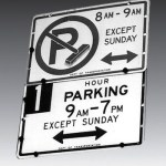 coflicting parking rules on the same pole