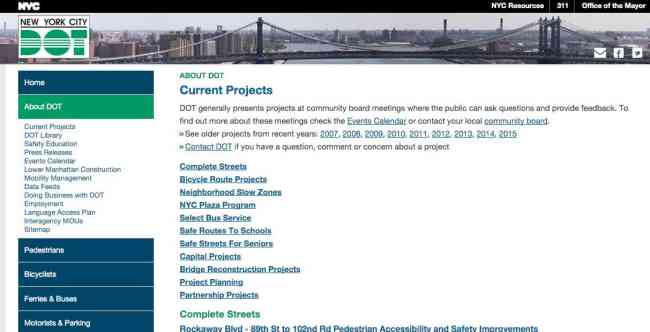 DOT advances projects that promote safe streets in NYC