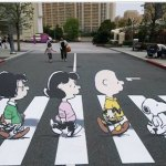 Street Safety in NYC with 3-D artwork in crosswalk
