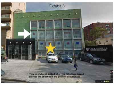 Sidewalk parking ticket exhibit3