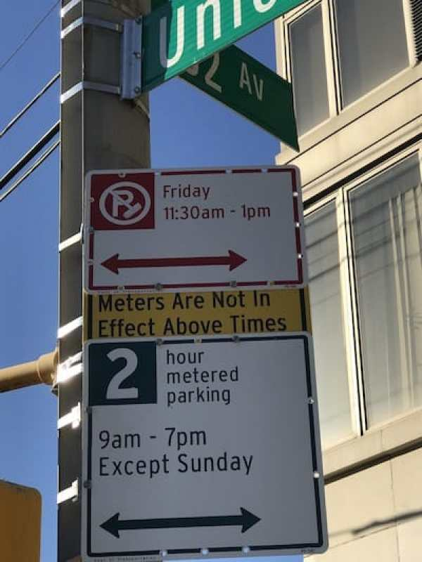 Little yellow sign_muni-meter parking ticket ambush