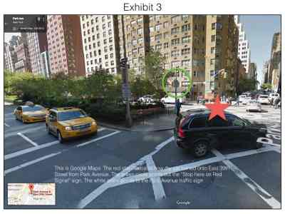 Turning is a defense to a NYC parking ticket for blocking the box