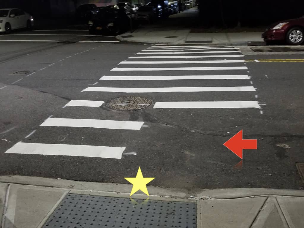 crosswalks trap in NYC to avoid