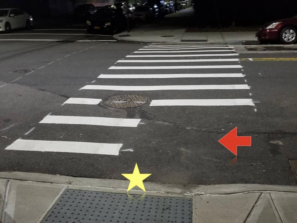 crosswalks trap in NYC to avoid